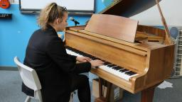 Charlotte playing the piano