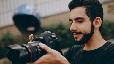 Person with camera