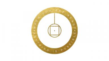 Online Music Exams logo - a gold outlined circle with a geometric design in the centre.