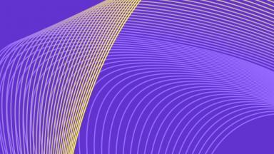 yellow swirls on purple background