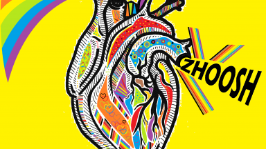 colourful graphic of a heart